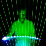 Laser Harp Entertainer for events