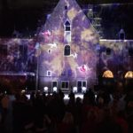 Projection Mapping Acrobats