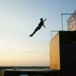 Stunt trampoline show