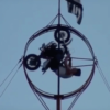 High wire bike stunts