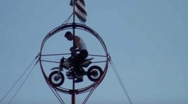 Tight Wire Motor Stunt