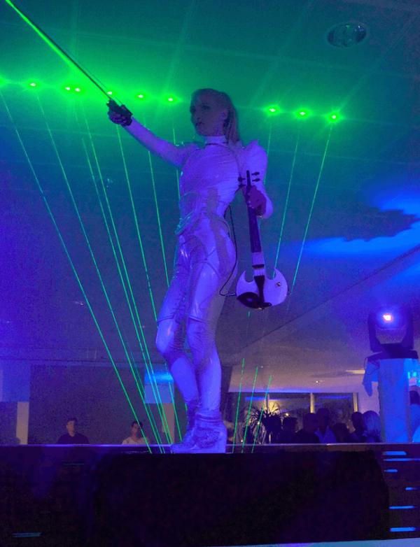 Violin Laser Musician Show