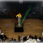 Violin laser entertainment show