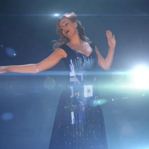 Female Singer with LED Light Dress