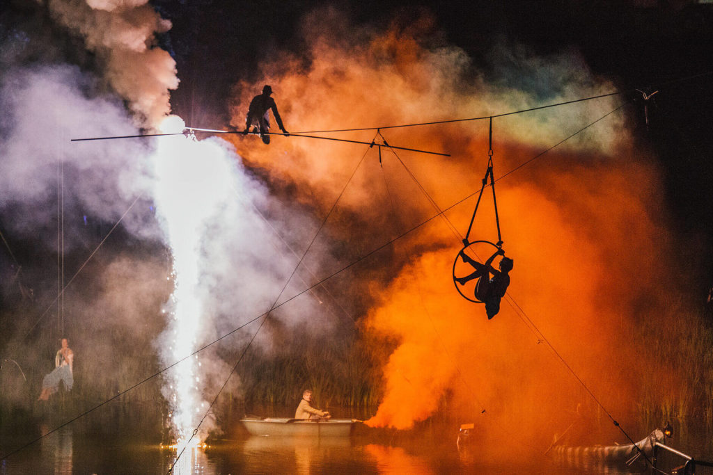 High Wire Entertainers for PR Stunts