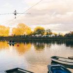High Wire River stunts