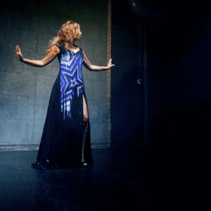 Singer with LED Dress