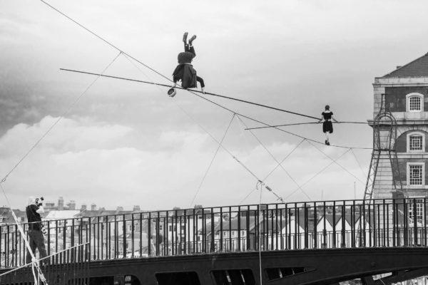 Street High Wire Stunt Show