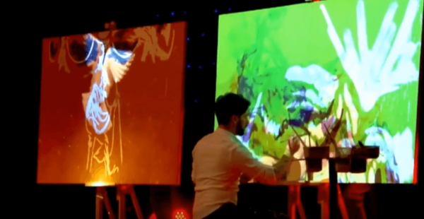 Animated Projection mapping with speed painter