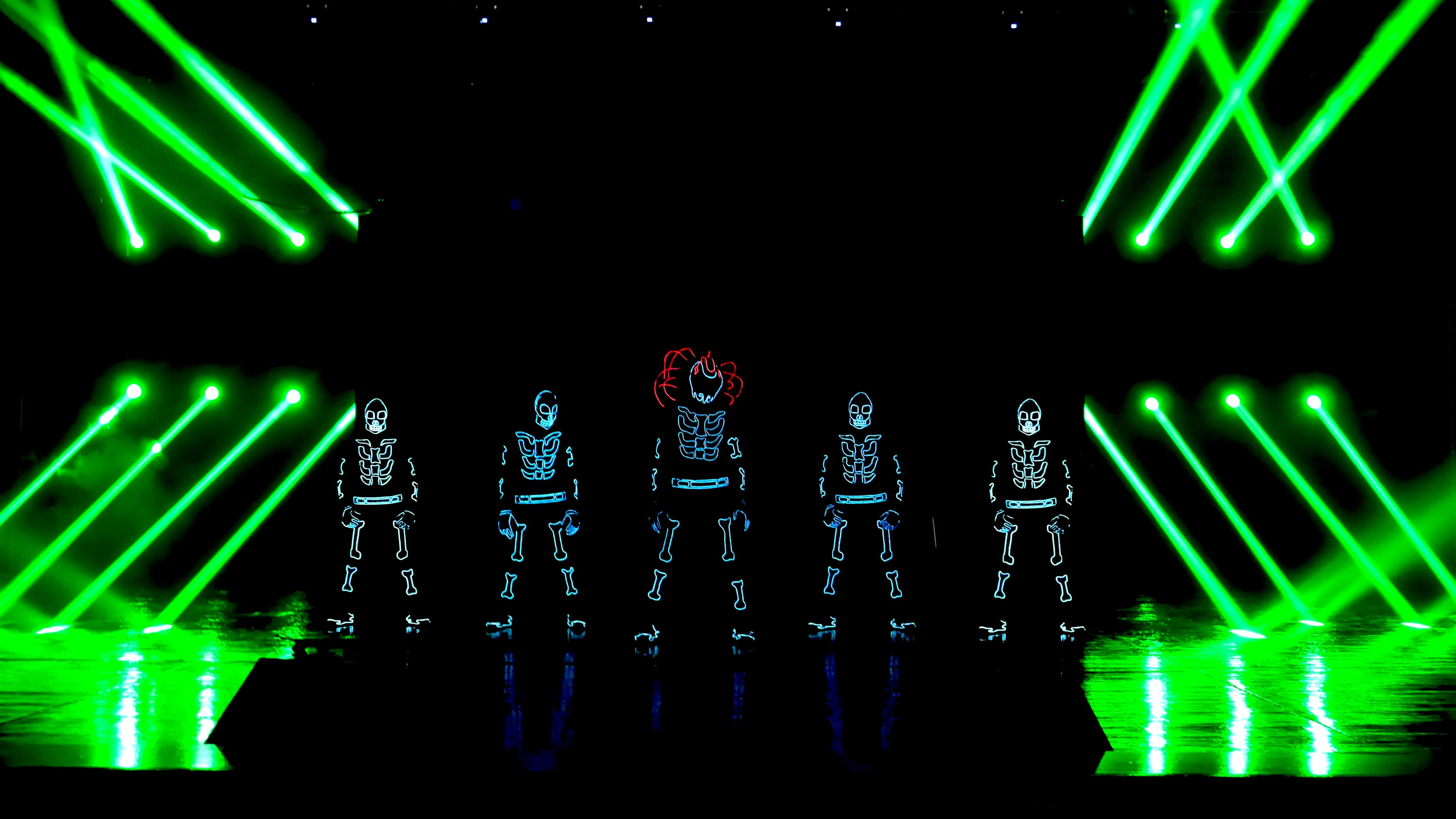 Dancers in LED costumes for Corpoate Launch Events