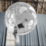 Female Aerial Acrobat with Crystal Ball