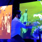 Live Stage projection mapping with painting