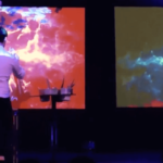 Projection Mapping Speed Painting Performer