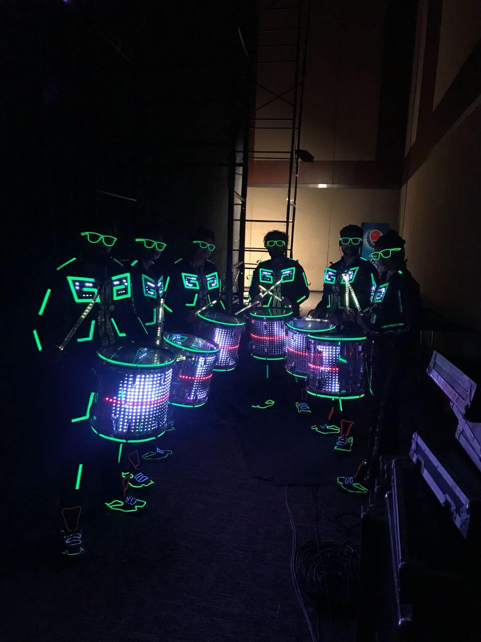 LED Stage Drum Performers