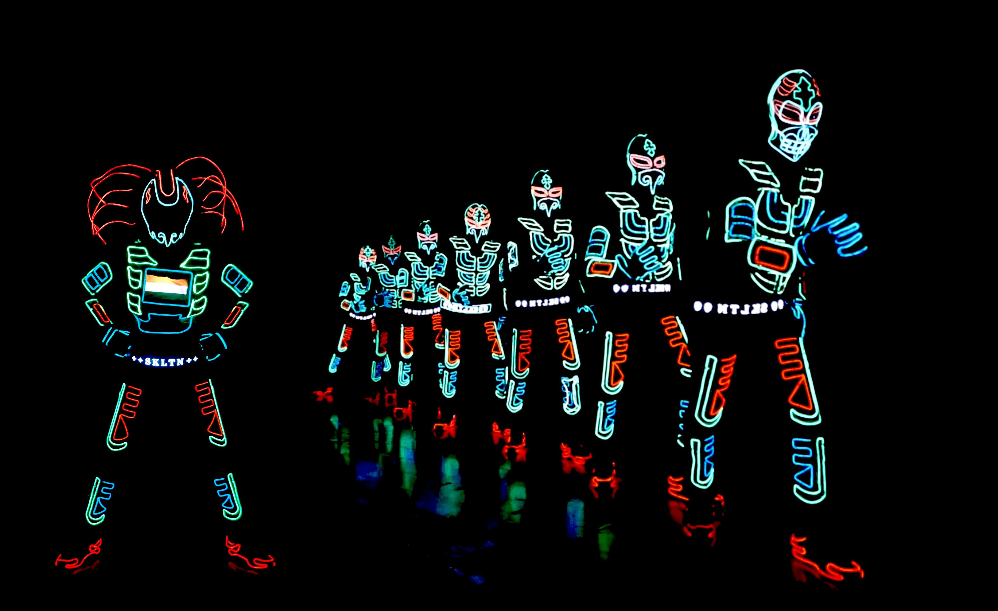 Tron LED Suit Drummers