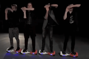 Choreographed Hoverboard Performers