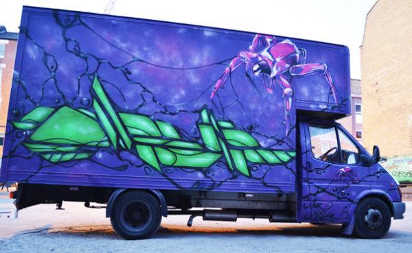 Car vehicle graffiti