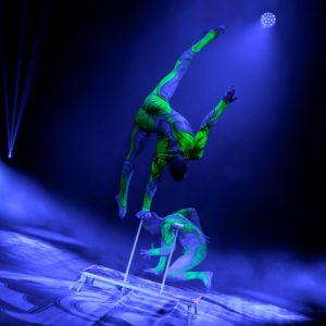 Illuminated Acrobats