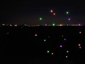 Aerial Synchronised drone display