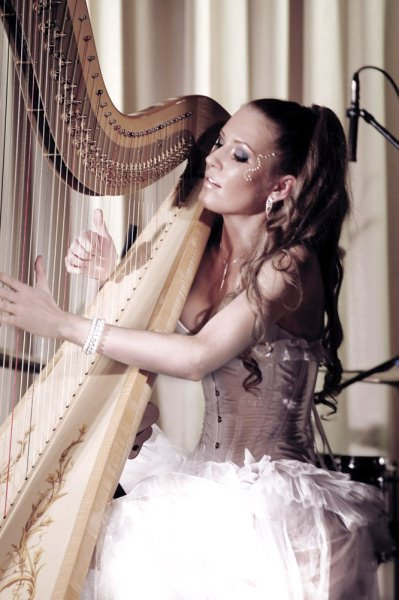 Amazing professional harp musician for events