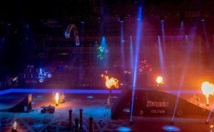 LED light bike show choreography