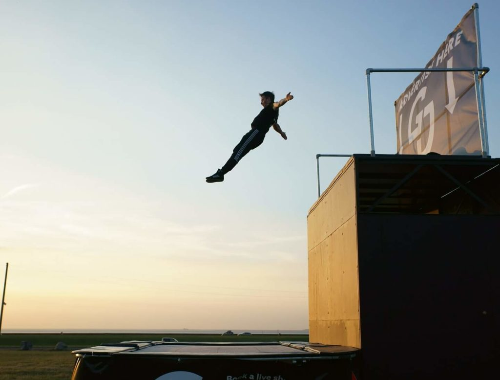 Olympic-themed-Stunt-Trampoline-interactive-EVENT-Entertainment