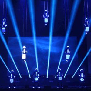 Spectacular Aerial LED Drum Entertainment