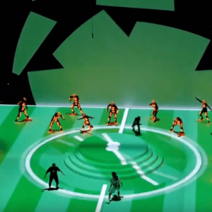 Spectacular Projection Mapping LED Light Dance Performance