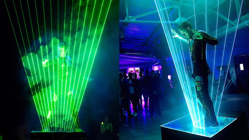 2 MAN laser Show ENTERTAINERS