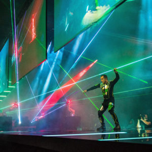 2 person laser entertainer shows