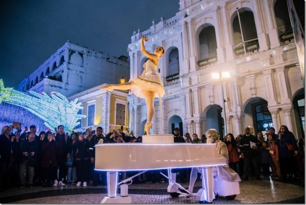 Ballerina MOBILE Piano Performer for Corporate Events