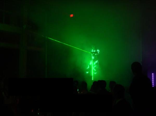 Female Laser Light Show
