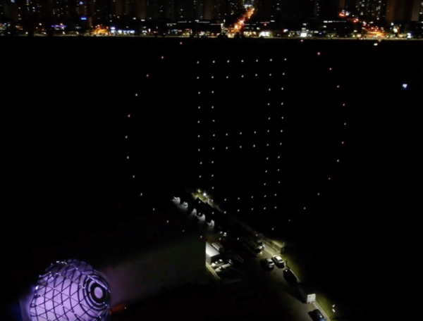 LED Light Drone Flashing Show