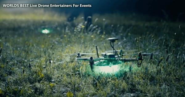 Outdoor drone dislplay Mapping show
