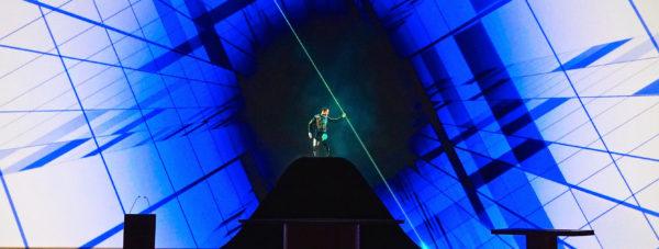 Stage laserman performer