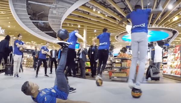 Sports Flashmob performers