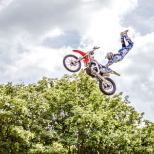 stunt performers show