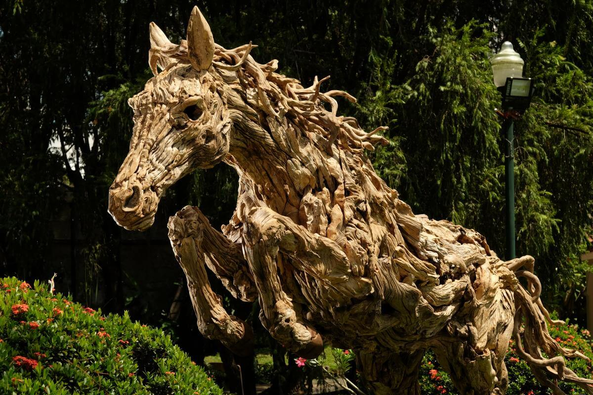 Horse wood sculptures to buy