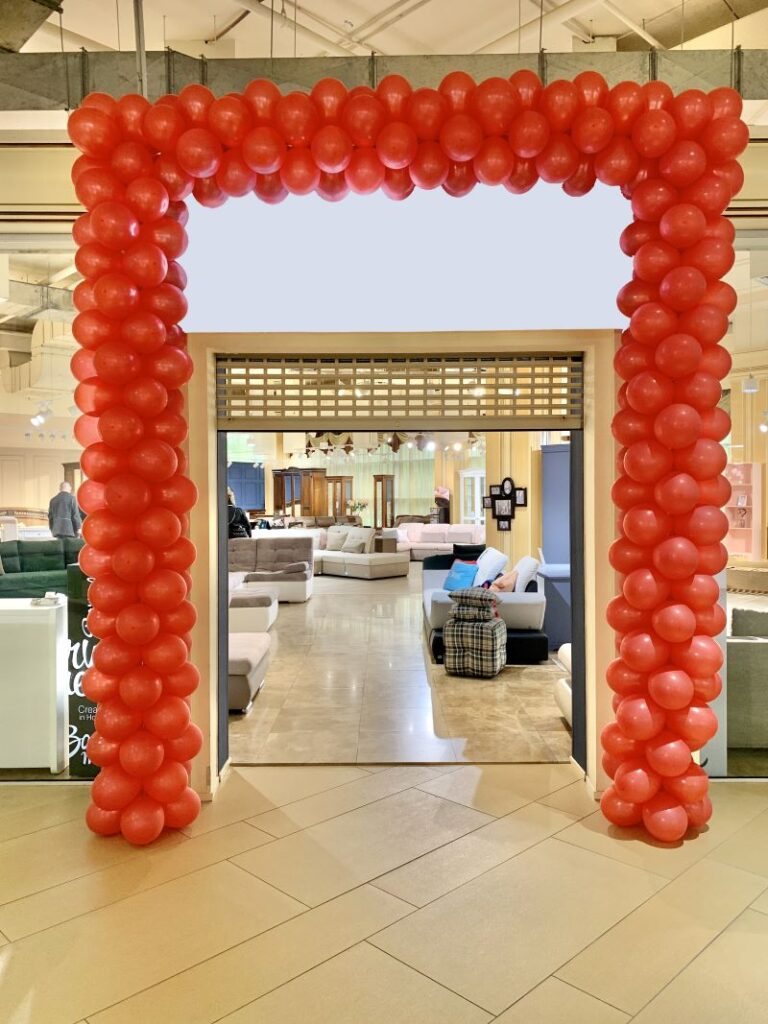 Balloon arch decoration for Shop OPENINGs in London