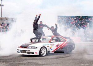 Electric CAR stunt driver entertainment