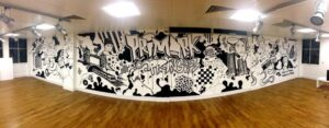 1) Creative building entrance ARTWORK