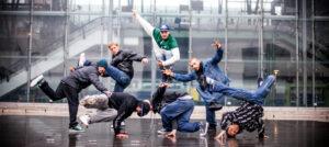 Breakdance athletes for photoshoots