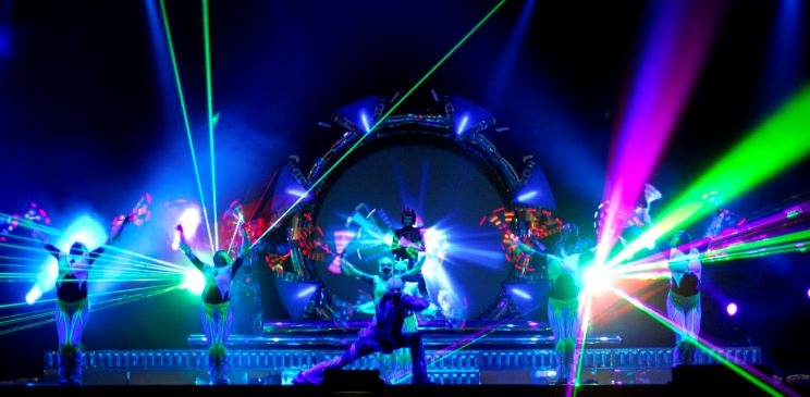 Laser Light Projection show for EVENTS in Germany