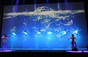 Projection display entertainment for EVENTS in Spain